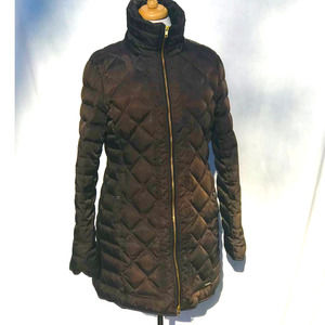Kenneth Cole Rich Brown Quilted Puffer Coat- Large